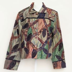 Anage Women's Multi-Color Embroidered Jacket